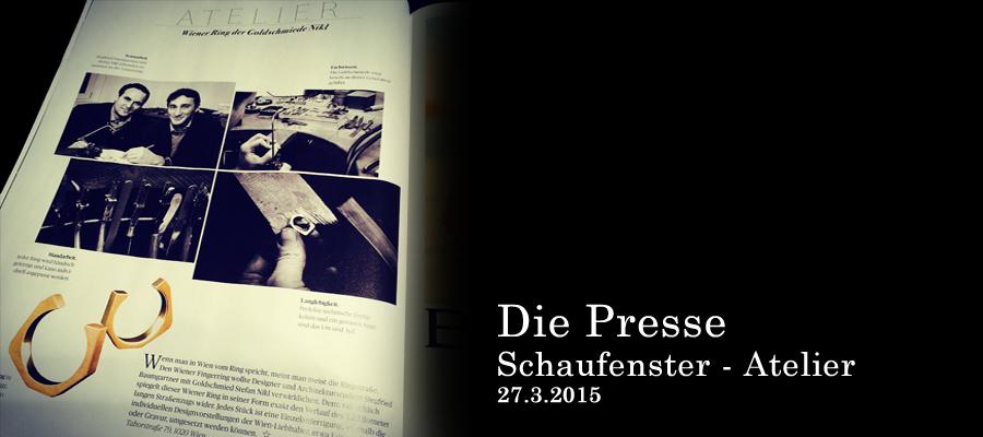 Ein Atelier-Bericht im Schaufenster der Presse über den Wiener Ring